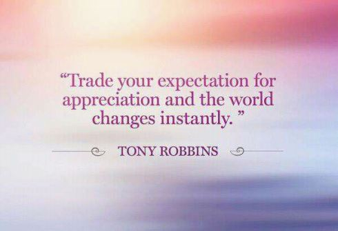 tony robbins expectations